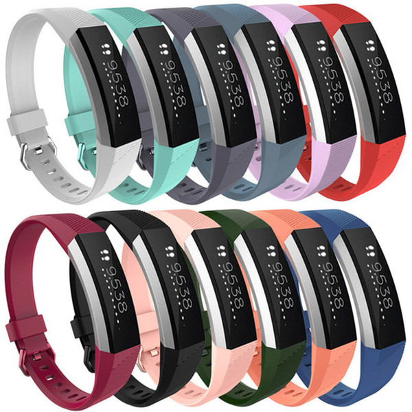 Hot Sales Silicone Replacement Straps Band For Fitbit Alta Watch Intelligent Neutral Classic Bracelet Wrist Strap Band With needle Clasp