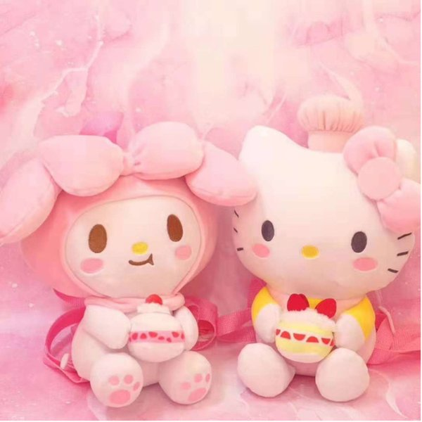 2019 Cute Cartoon Large Hello Kitty My Melody Plush Backpack Soft Stuffed Animals Dolls Bag Children Schoolbag Girls Kids Gifts From Sugarher 34 49