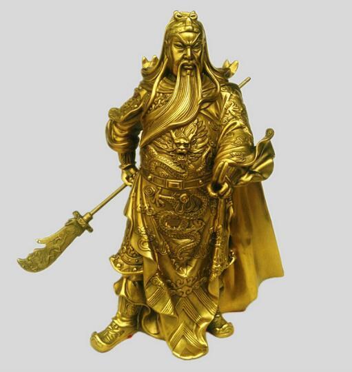 Ouverture de la boutique en cuivre deux fait référence à des ornements de Wu Guan Mammon enrole la zone de paix Guandi monarque