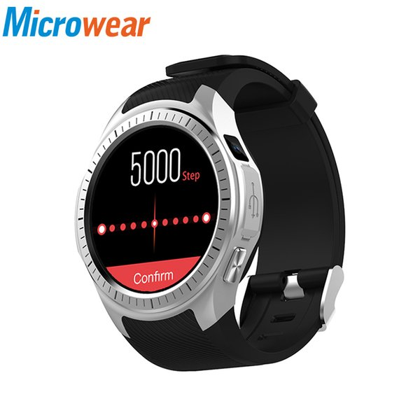 Microwear L1 Smart Watch Phone 1.3 inch GPS Heart Rate Measurement Pedometer Sleep Monitor Smartwatch 4 colors