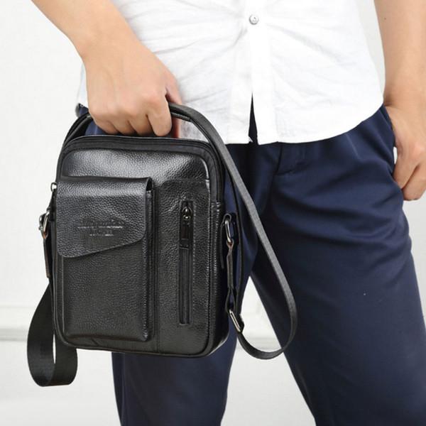 2018 New Men Genuine Leather Cowhide Crocodile Patterns Vintage Cross Body Messenger Shoulder Business Casual Bag Men's Handbag