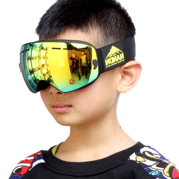 Winter Children Ski Goggles Double Layers UV400 Anti-fog Big Ski Mask Glasses Skiing Boys Girls Snow Snowboarding Goggles