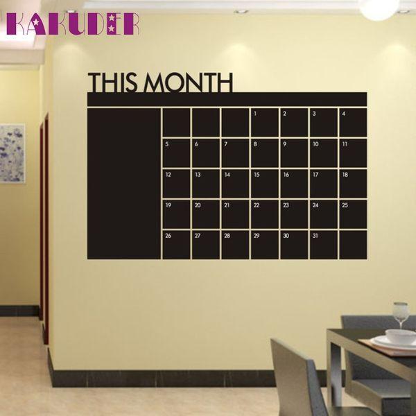 KAKUDER TOP Grand Blackboard Wall Sticker Removable Vinyl Chalkboard Wallpaper for Home Office Classroom Decor Week Planner