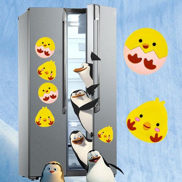 Creative Cute chick Fridge Magnets for Kids Small Size Silicon Gel Magnetic fridge Magnet Animal Magnets