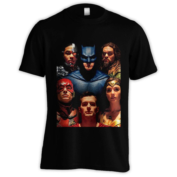 JUSTICE LIGA PORTRAIT T-SHIRT Großhandel Großhandel AQUAMAN FLASH WUNDER FRAU S-3XL Marke 2018 Neue T-shirt Mann Baumwolle