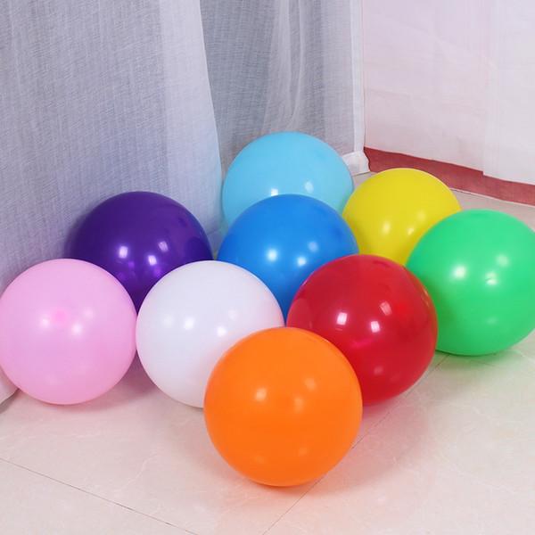 Palloncini perlati colorati in lattice tondo perlato 100pcs 1.8g Decorazioni per feste Compleanno felice San Valentino Decorazione di nozze Ballon