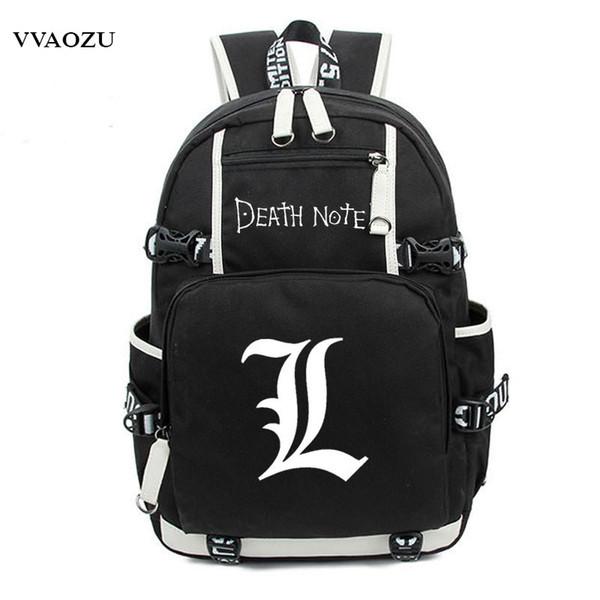 Japonya Anime Death Note Sırt Çantası Büyük Oxford Aydınlık Baskı Omuz Çantası Erkek Kız Seyahat Dizüstü Kitap Çantaları için