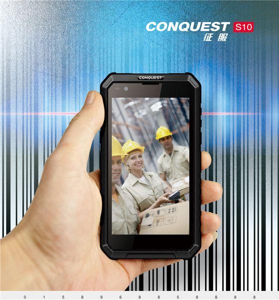 "Conquest S10 32GB ROM MTK6753 Octa Core 5.5"" HD Android 7.0 3GB RAM IP68 Rugged Waterproof Phone 5000mAh 4G LTE Walkie talkie 1D 2D Scanning"