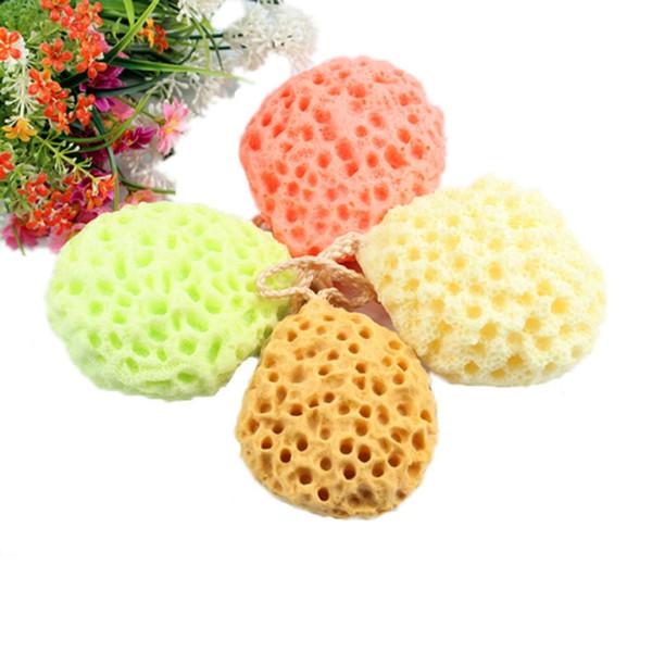 Random Colors Soft Bath Ball Bath Scrubber Shower Spa Sponge Body Cleaning Scrub Colors Sent Randomly m15