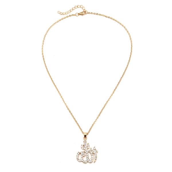 Gioielli europei e americani Semplice nuovo retrò vento nazionale totem collana Diamante alfabeto accessori moda all'ingrosso di gioielli