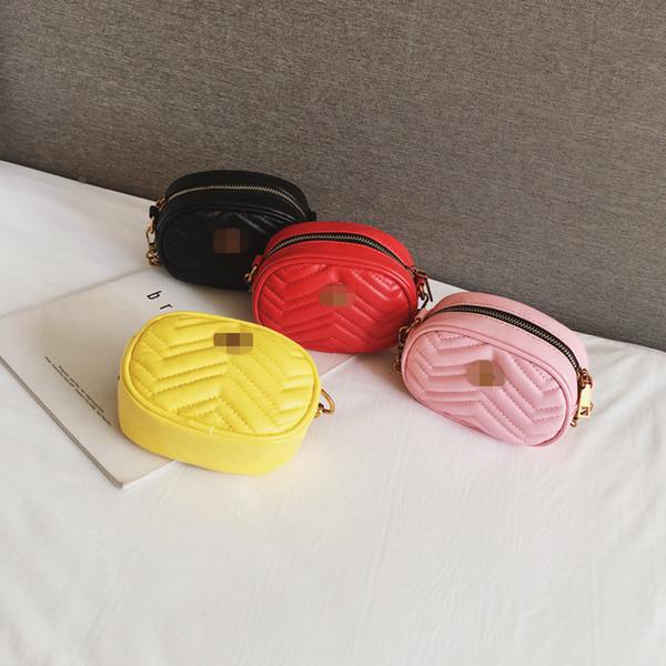 Neueste Kinder Handtaschen Kinder Mädchen Korean Kette Mini Prinzessin Geldbörsen Teenager Mädchen Umhängetaschen Allgleiches Nette Ellipse Taschen Weihnachtsgeschenke