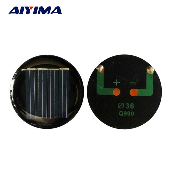 Célula AIYIMA 10 UNIDS China D 36mm Diy Módulos de Panel Fotovoltaico de Célula LED Light Toys Sunpower Power Bank Panel Solar