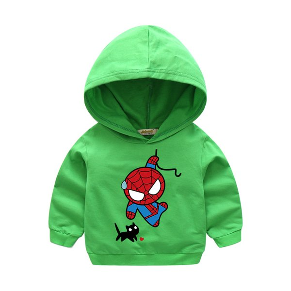 Cenicienta Hoodies for Kids Spider Marvel Cartoon Print full Sleeve O-neck Cotton Children Sweatshirt for Holiday and Birthday