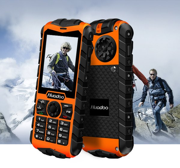Huadoo IP68 waterproof mobile phone FM flashlight 3G mobile torch support swimming shockproof dustproof outdoor rugged Telephone
