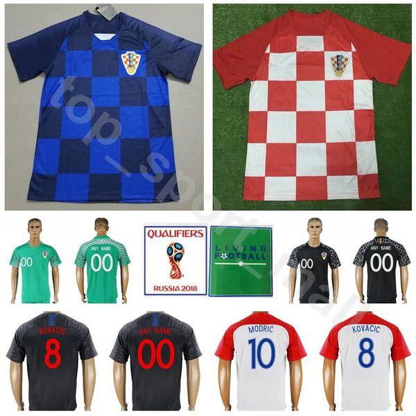 online store 2ea63 1ed81 2018 Men Soccer 8 Kovacic Jersey 2018 World Cup 5 Corluka 6 Lovren 18 Rebic  11 Brozovic Football Shirt Kits Custom Name Number White From ...