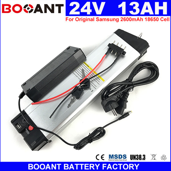 E-Bike Lithium ion Battery 24v 13Ah for Bafang BBSHD 300W 450W 600W Motor Electric bike battery 7S 24V +2A Charger EU US no tax