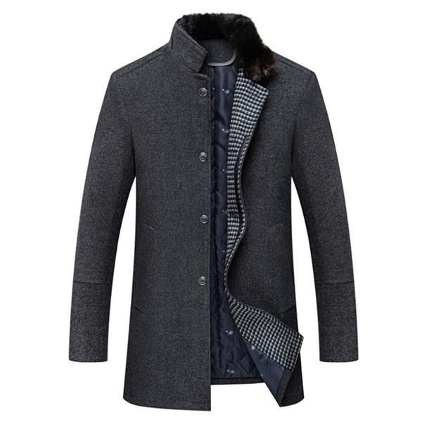 Großhandel Männer Mantel Winter Modische Und Gehobene Trend Persönlichkeit Jacke Männer Herren Wolle Mäntel Und Jacken Von Tayler, $133.96 Auf