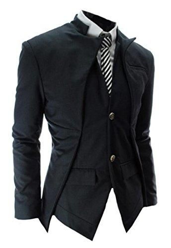 O design assimétrico coreano dos homens de Abetteric slim ajusta os revestimentos do Blazer do terno