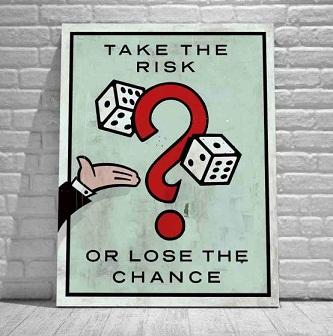Alec Monopoly Take the Risk.Quality Handpainted /HD Print Cartoon Graffiti Pop Wall Art Oil Painting on Canvas Multi Size /Frame Options 214