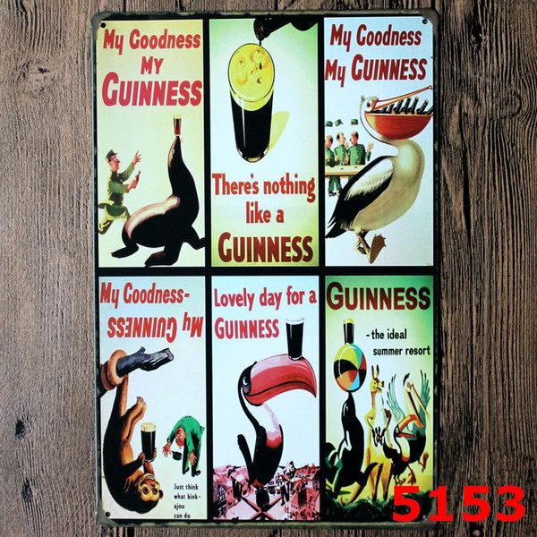 20*30cm Metal Tin Sign Beer my Guinness Retro Vintage Classic Tin Bar Pub Home Wall Decor Retro Tin Poster wn564 200PC
