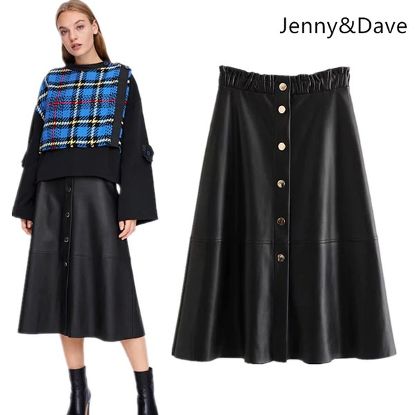 Withered skirt women harajuku england street faldas mujer moda 2018 solid string selvedge button skirts women plus size 1016