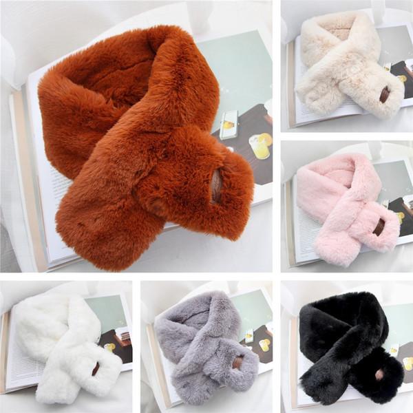 Faux Fur Collars, Fake Fur Ring Scarf, Man-made Fluffy Neck Scarves, women lady girls fashion Cute Shawls