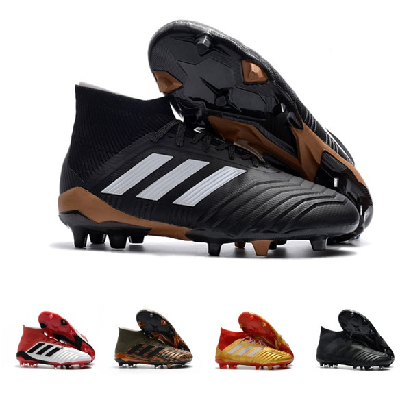 2018 Adidas Originals Predator 18.1 Fg Mens High Football Boots New Hot Cleats Cheap Soccer Shoes Athletics Sneakers Size 39 45 From Casualv2, $100.51