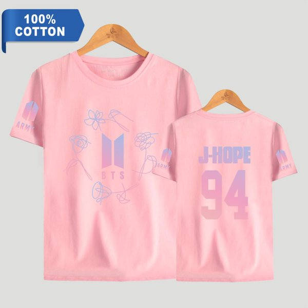 BTS 100% Coon K-Pop Bangtan Boys Love Yourself ARMY Print Short Sleeve T hirts Fashion Men and Women Tee Shirts 4XL Clothes