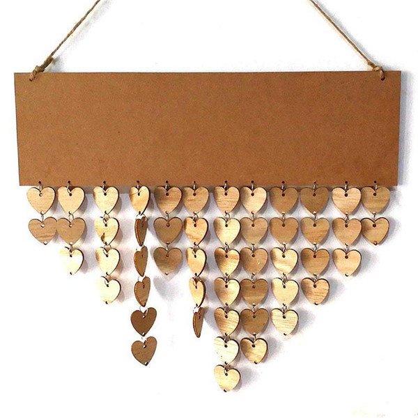 1pc Wooden Birthday Reminder Sign DIY Hanging Calendar Board Family Friends Birthday Party Calendar Sign Special Dates Planner