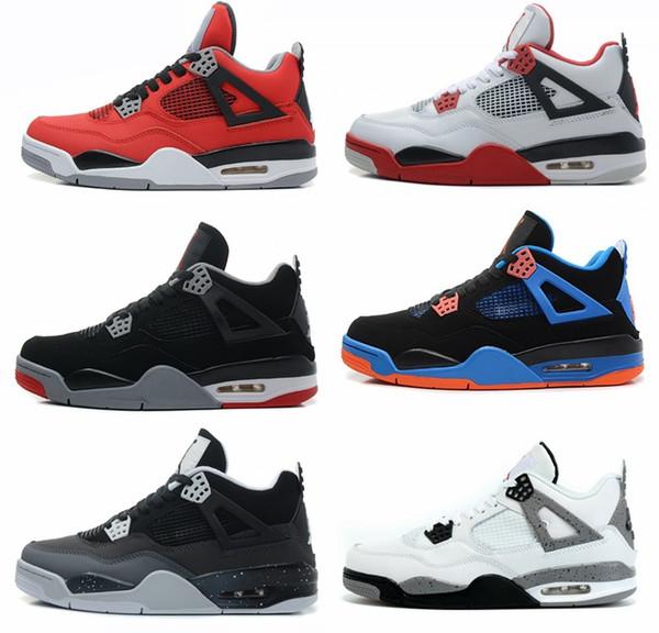 Großhandel NIKE Air Jordan 4 Retro 2018 Sneakers Retro Heißer Verkauf 4 Mens Womens Net Leder Oberfläche Nähte Neu Gestaltete Outdoor Freizeit Jogging