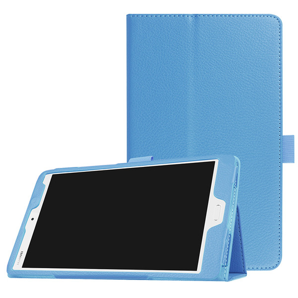 Hot Tri-folding Litchi Leather Case Cover for Huawei MediaPad M3 BTV-W09 BTV-DL09 8.4 inch Tablet+Stylus
