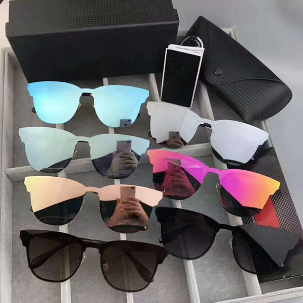top popular NEW brand Polarized Aviation Sunglasses for Men women Male Driving glasses Reflective Coating Eyewear Night vision driving mirror 2019
