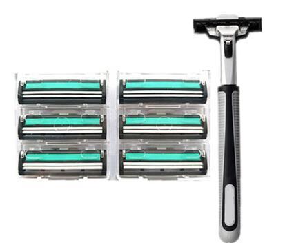Razor razor blade, double hand old razor blade, hand scraper, male shaving knife, beard knife holder, +6 blade.