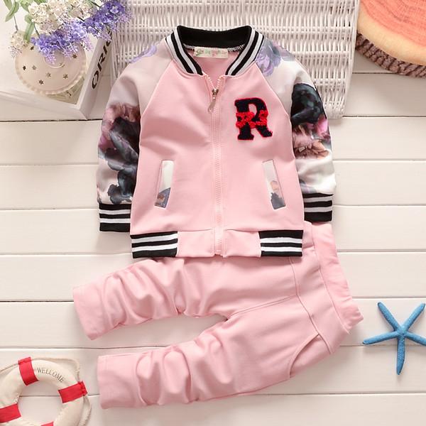 baby boys girls clothes set children casual 2pcs jacket + pants suits boy baseball uniform infant kids