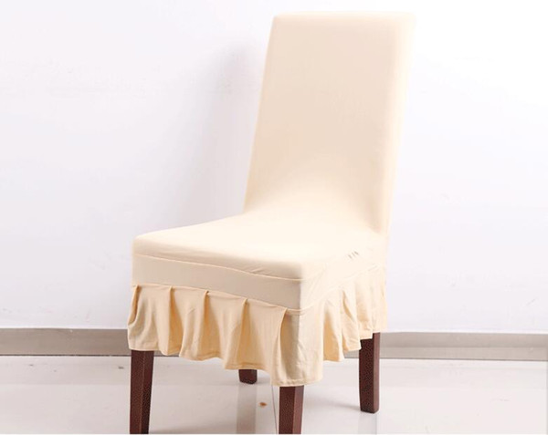 Simple and short Wedding chair covers universal size Simple modern pure color general elastic skirt restaurant dining chair covers WA0106