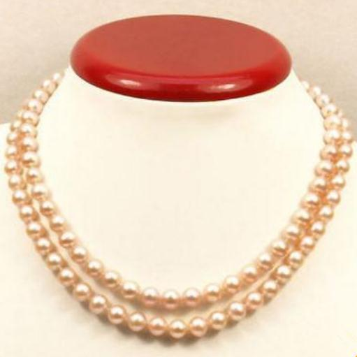Noblest Beaded Necklaces AAA 9-10mm Natural South Sea Pink Pearl Necklace 35 Inch 14k Gold Clasp