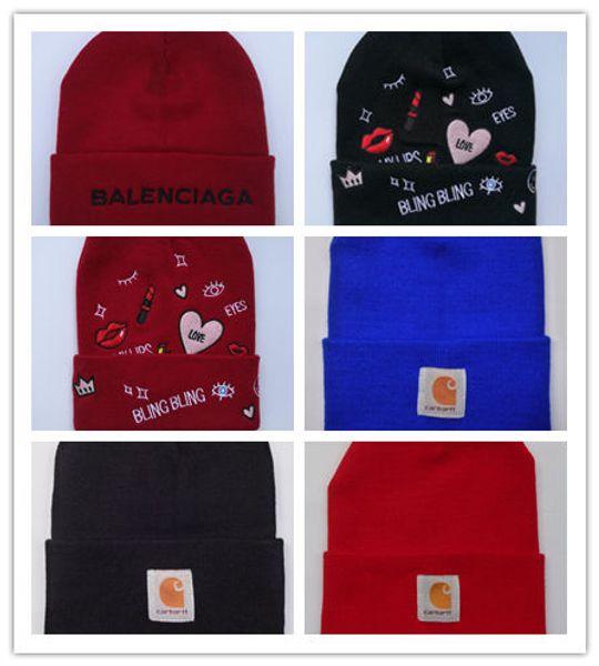 Newest Hot Vetements Haute Couture beanies embroidery winter hats for women men bonnet hip hop boys girls