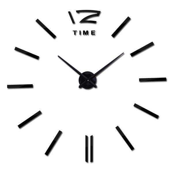 TiTa-Dong Brand 50CM Diameter Acrylic Mirror Time Needle 3D Wall Clocks Home Quartz DIY Wall Clock Living Room Decor T0.2