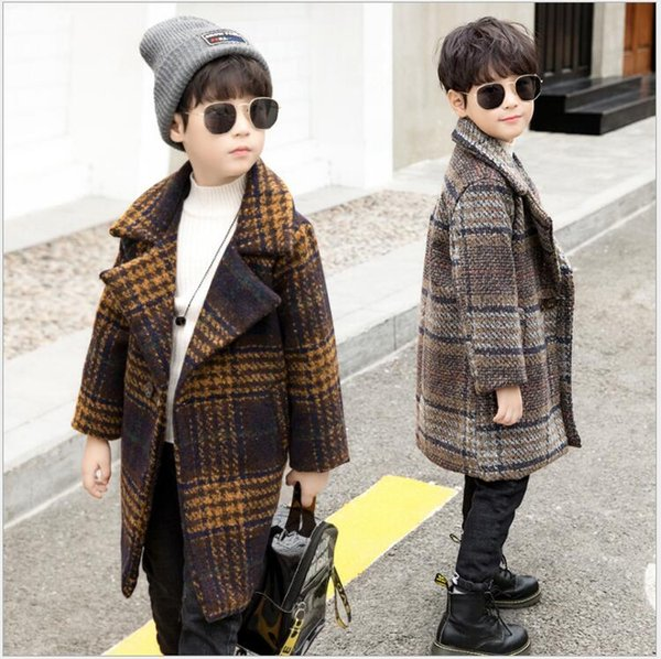 2019 Kids New Woolen Coats In The Long Selection Children's Korean Winter Jackets Boys Outdoor Warm Thicking Winter clothing For Sale