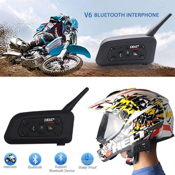 9172e48796d Fodsports!New 1 pcs Wireless Motorcycle Helmet V6 Pro 1200M multi BT  Interphone Bluetooth Headset