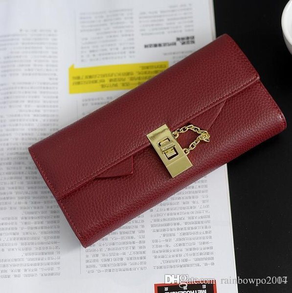 factory wholesale woman wallet purse new trend wristlock embossed women elegant long long wallet card package seventy percent off ladies