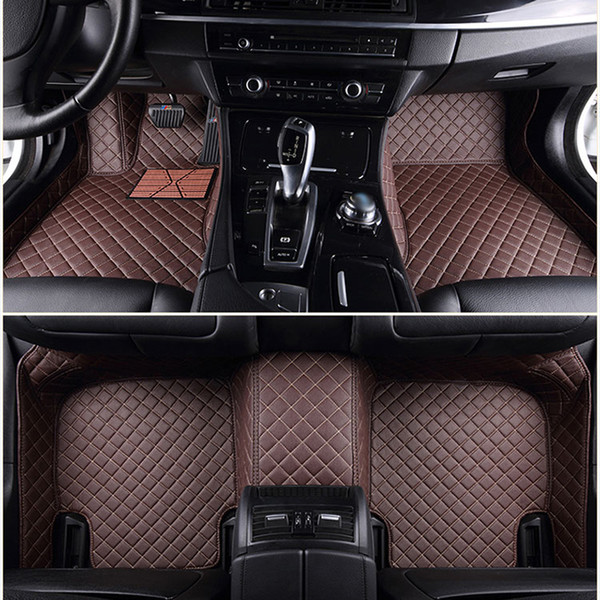 Material apto respetuoso del medio ambiente del cuero impermeable de la PU de las esteras del coche de encargo del ajuste para el modelo extenso del coche y haga las esteras del sistema completo