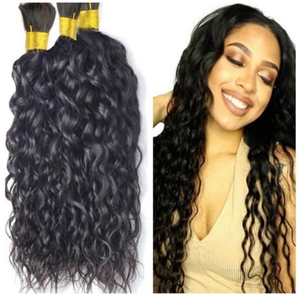 Menschliches Haar für das Flechten der Masse keine Anlage 300g Wasserwelle, die menschliches Haar färbt, kein Einschlag 3 brasilianische Flechtenhaarmasse kein Schuß