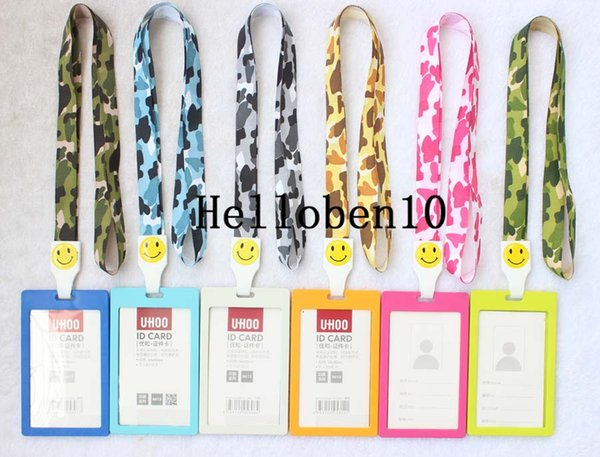 10 Vertical Style Business ID Badge Card Holder & Lanyard Neck Strap