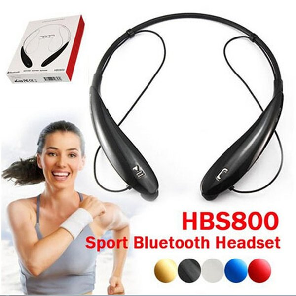 Bluetooth Earphones HBS-800 Stereo Sports Bluetooth Headphone Neckband Style In-Ear Earphone For Apple iPhone LG Samsung Cell Phone