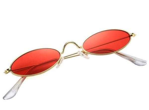 HOT Fashion Women & Men Oval Sunglasses Alloy Small Frame Sun Glasses Eyeglasses Anti-UV Spectacles Eyewear for Girls Shopping Adumbral