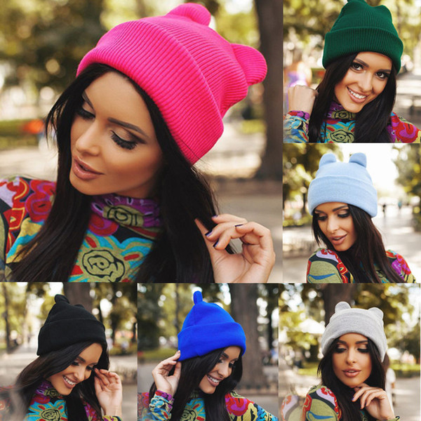 HIRIGIN Newest Hot 2018 Unisex Women Men Knit Winter Warm Ski Crochet Slouch Hat Berets Caps Beanie Oversized