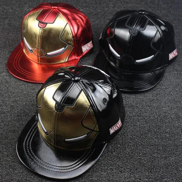 Hip-Hop Baseball Caps For Kids Fashion Movie Film Skateboard Hats For Boys Newest Leather Snapbacks For Unisex