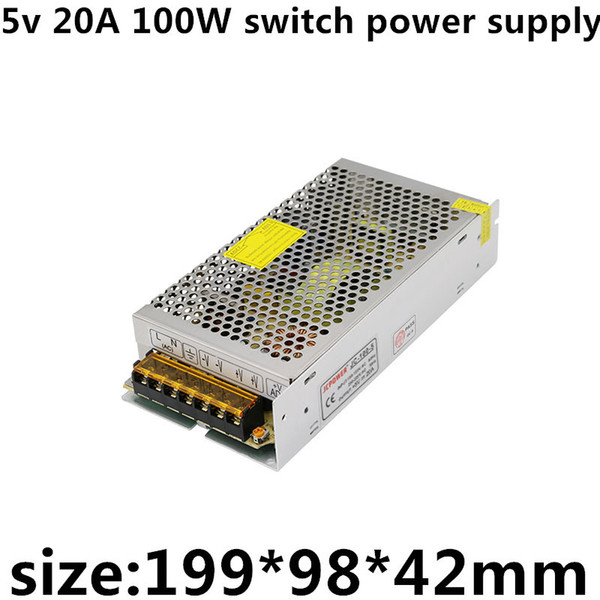 2018 Ac110v 220v Dc 5v 20a 100w 5v Led Strip Display Screen Apparatus  Enough Power High Quality Switch Power Supply From Chenxiaoming1, $5 4 |