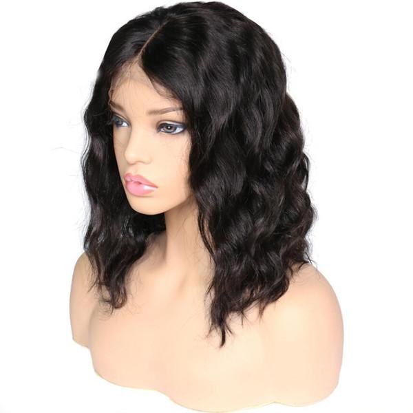 Parrucche corte del merletto dei capelli umani anteriori del pizzo dell'onda del corpo dei capelli del brasiliano per le donne afroamericane Pre Pluck 130% di parrucche dei capelli umani di densità